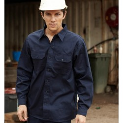 COTTON DRILL WORK SHIRT L/S - WS0680