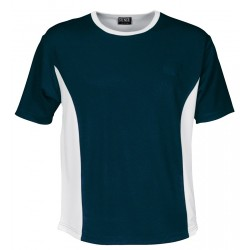 MENS COOL DRY S/S T-SHIRT Navy/White - 1010E