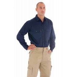 155gsm  Cool-Breeze Cotton Work Shirt,  L/S - 3208