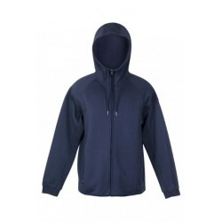 Mens Cotton-Face Hoodie Navy - F360HZ