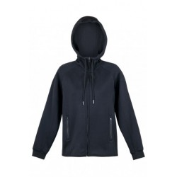Ladies/Junior Cotton-Face Hoodie Black - F360UN