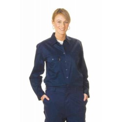 190gsm Ladies Cotton Drill Work Shirt, L/S - 3232