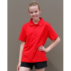 Kids CoolDry Polyester Pique Polo - PS81K