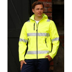 Adults HiVis Heavy Duty Softshell Jacket with 3M Tapes - SW30