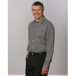 Mens Gingham Check Long Sleeve Shirt - M7300L
