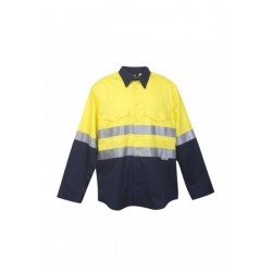 100% Combed Cotton Drill Long Sleeve Shirt - S007LP