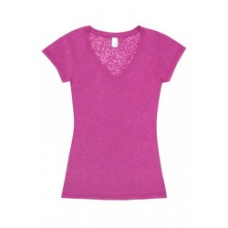 Ladies Burnout V-neck T-shirt - T931LD
