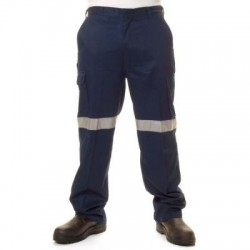 190gsm Lightweight Cotton Cargo Pants with 3M R/Tape - 3326