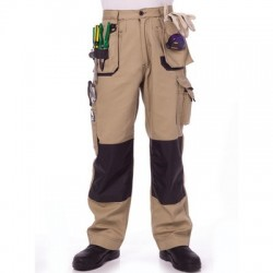 285gsm Duratex Cotton Duck Weave Tradies Cargo Pants with Twin H