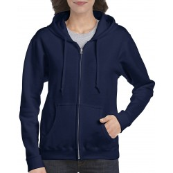 Heavy Blend Ladies Full Zip Hooded Sweatshirt - 18600FL