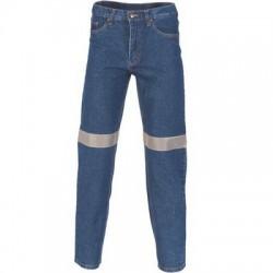 Taped Denim Stretch Jeans - 3347