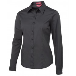 LADIES URBAN L/S POPLIN SHIRT - 4PLUL