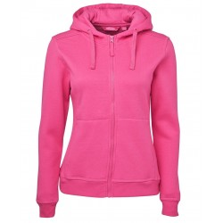 Ladies Full Zip Fleecy Hoodie - 3HJ1