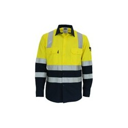 155gsm HiVis 2 Tone Cool-Breeze Cotton Shirt with Under Arm Airflow Vents - 3547
