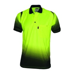 175gsm HiVis Cool-Breathe Hivis Sublimated Ocean Polo - 3568