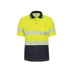 HIVIS Segment Taped Mircomesh Polo - Short Sleeve - 3511