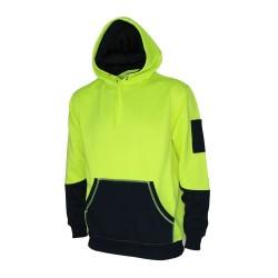 300gsm Hivis 2 tone super fleecy hoodie - 3721