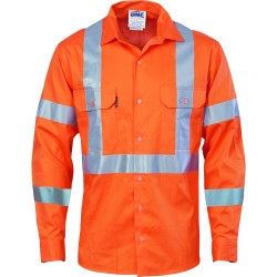 190gsm HiVis Cotton Drill Vented Shirt with Cross Back CSR R - 3789