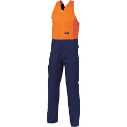311gsm HiVis Two Tone Cotton Action Back Overall - 3853