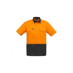Mens Rugged Cooling Hi Vis Spliced S/S Shirt - ZW815