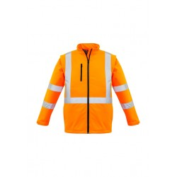 Unisex Hi Vis X Back 2 In 1 Soft Shell Rain Jacket - ZJ680