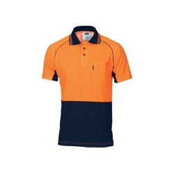 HiVis Cotton Backed Cool Breeze Polo S/S - 3719
