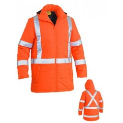 TAPED HI VIS PUFFER JACKET - X BACK - BJ6379XT