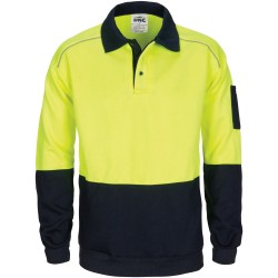 HiVis Rugby Top Windcheater with Two Side Zipped Pockets - 3727