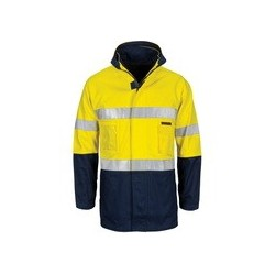 "HiVis ""4 IN 1"" Cotton Drill Jacket with Generic R/Tape - 3764"