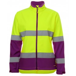 JB's LADIES HI VIS D+N WATER RESISTANT SOFTSHELL JACKET - 6DWJ1