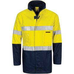"HiVis Cotton Drill ""2 in 1"" Jacket with Generic Reflective R/Tap"