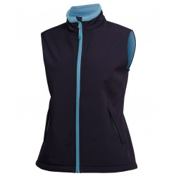 PODIUM LADIES WATER RESISTANT SOFTSHELL VEST - 3WSV1