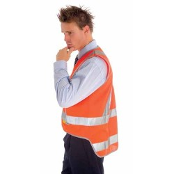 Day/Night Cross Back Safety Vests with Tail 3M R/Tape - 3802