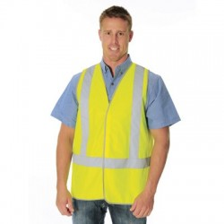 Day & Night Safety Vest with H Pattern Generic R/Tape - 3804