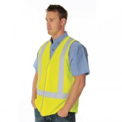 Day & Night Safety Vest with Cross Back Generic R/Tape - 3805