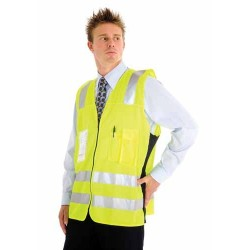 Day/Night Side Panel Safety Vest 3M R/Tape - 3807