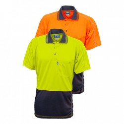 Shirt 175gsm Micromesh Polyester Hi Vis Polo, Short Sleeve 2 Tone - TS2851