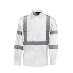 Night Use White Cotton Drill Shirt - C96