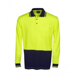 Hi Vis Drop Needle Cott Back Polo L/S - P71