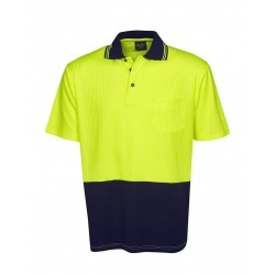 Hi Vis Drop Needle Cott Back Polo S/S - P72