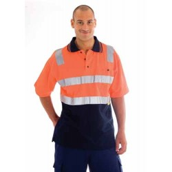Cotton Back HiVis Two Tone Polo Shirt With 3M R/Tape S/S - 3817
