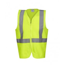 Hi Vis D/N Vest with Zip and Pockets - V84