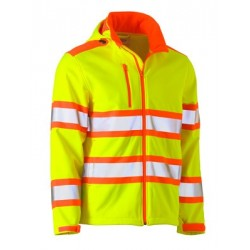 TAPED BOUBLE HI VIS SOFTSHELL JACKET - BJ6222T