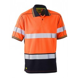TAPED HI VIS POLYESTER MESH POLO SHORT SLEEVE - BK1219T