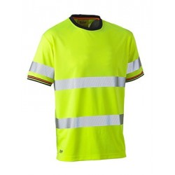 TAPED HI VIS POLYESTER MESH T-SHIRT SHORT SLEEVE - BK1220T