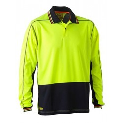 HI VIS POLYESTER MESH POLO LONG SLEEVE - BK6219