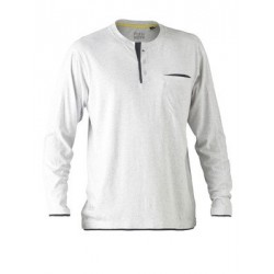 FLEX & MOVE COTTON HENLEY TEE LONG SLEEVE - BK6932