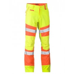 TAPED BIOMOTION DOUBLE HI VIS PANTS - BP6411T