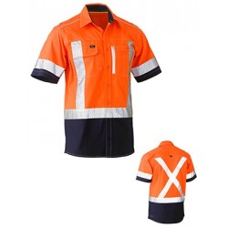 FLEX & MOVE X TAPED HI VIS UTILITY SHIRT SHORT SLEEVE - c