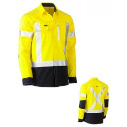 FLEX & MOVE X TAPED HI VIS UTILITY SHIRT LONG SLEEVE - BS6177XT